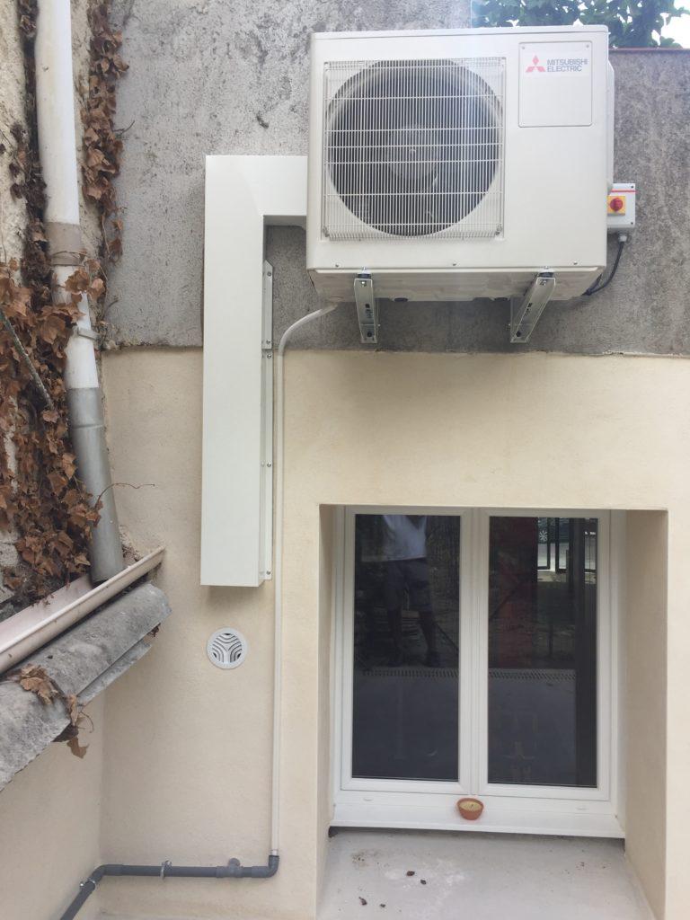 Climatisation d'un cabinet de kinésithérapie